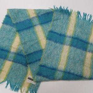 Kilkenny Trading Mohair Wool Scarf Plaid Ireland